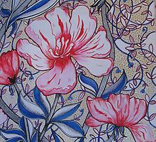 BLOOMING RED AND BLUE by rudledge