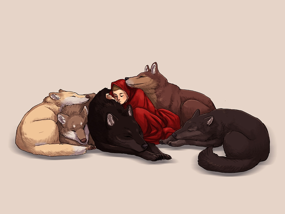 Wolf Pack by kickingshoes