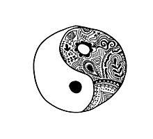 Hippie Yin-Yang Design Photographic Print