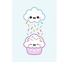 Cloud with Cupcake Photographic Print