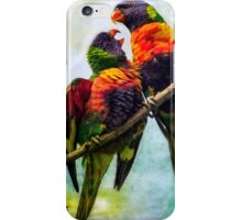 A Cocky Conversation iPhone Case/Skin