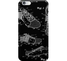 Football (Soccer) Cleats Patent - Black iPhone Case/Skin