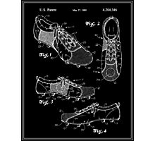 Football (Soccer) Cleats Patent - Black Photographic Print
