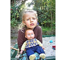 """Me and My Doll"" #4 Photographic Print"
