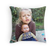 """Me and My Doll"" #4 Throw Pillow"