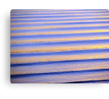 Blue & Orange Sunset Ripples Canvas Print