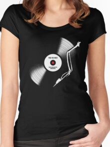 post-apocalyptic birdsongs in 33 rpm Women's Fitted Scoop T-Shirt