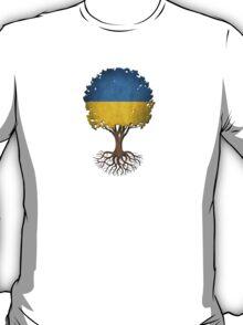 Tree of Life with Ukrainian Flag T-Shirt