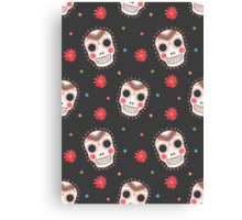 The Sugar Skull Pattern Canvas Print