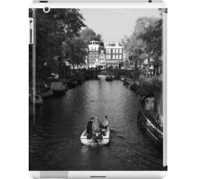 Boating On The Canals Of Amsterdam iPad Case/Skin