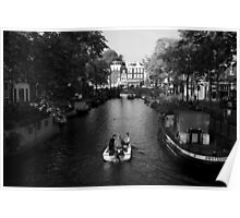 Boating On The Canals Of Amsterdam Poster