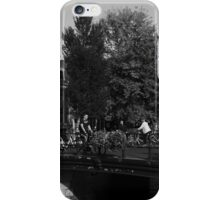 Canal Bridge In Amsterdam iPhone Case/Skin