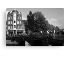 Canal Bridge In Amsterdam Canvas Print