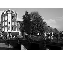 Canal Bridge In Amsterdam Photographic Print