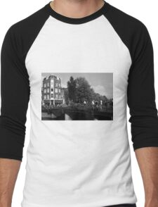 Canal Bridge In Amsterdam Men's Baseball ¾ T-Shirt