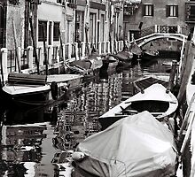 Boats and Canals by Venice
