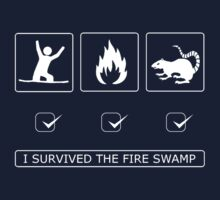 I survived the fire swamp Kids Tee