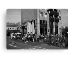City Life In Amsterdam Canvas Print