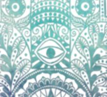 Blue Fatima Hand  Sticker