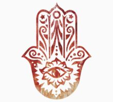 Orange Fatima Hand Hamsa by ohdeer