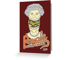 Royale with cheese Greeting Card