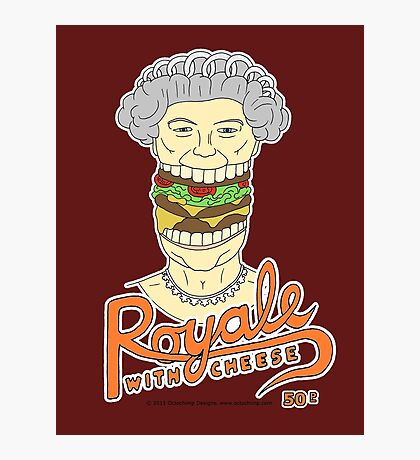 Royale with cheese Photographic Print
