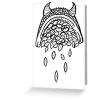 horned..? eyeball?!! Greeting Card