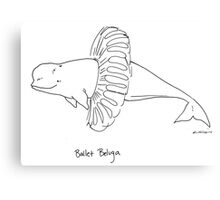 Ballet Beluga Canvas Print