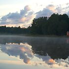 Misty lake by Frevik