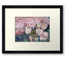 Roses on Big Mama's Chest Framed Print