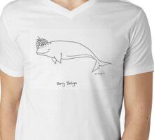 Berry Beluga Mens V-Neck T-Shirt