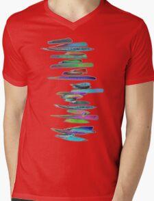 BRUSH T Mens V-Neck T-Shirt
