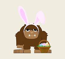 Cute Easter Bigfoot by Eggtooth