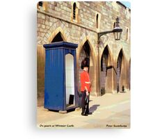 On Guard at Windsor Castle Canvas Print