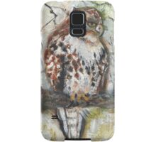 Young Red-tailed Hawk, Perched Samsung Galaxy Case/Skin