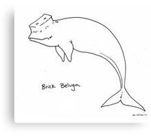 Brick Beluga Canvas Print