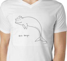 Brick Beluga Mens V-Neck T-Shirt