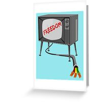 Freedom Television Greeting Card