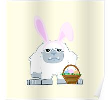 Cute Easter Yeti Poster