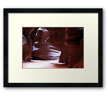 Antelope Canyon in Winter Framed Print