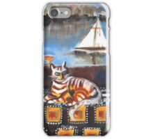 Bellini Mod, Lady with Cat on Yacht iPhone Case/Skin