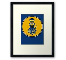 Octochimp - single colour Framed Print