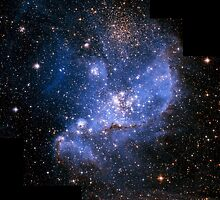 Hubble Space Telescope Print 0030 - Infant Stars in the Small Magellanic Cloud - hs-2005-04-a-full_jpg by wetdryvac