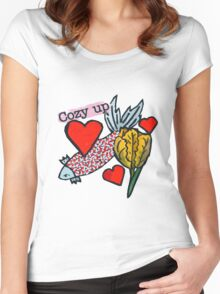 Cozy Up Women's Fitted Scoop T-Shirt