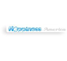 Happiness in America Title Canvas Print