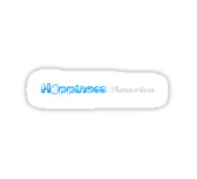 Happiness in America Title Sticker