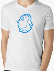 Happiness Penguin Mens V-Neck T-Shirt
