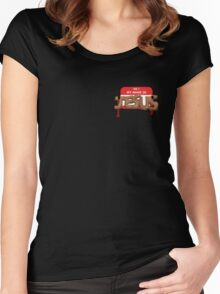 The Carpenter - warning : content is in bad taste Women's Fitted Scoop T-Shirt