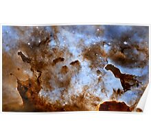 Hubble Space Telescope Print 0034 - Cosmic Ice Sculptures - Dust Pillars in the Carina Nebula - hs-2010-29-a-full_jpg Poster