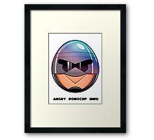Angry RoboCop Bird Framed Print
